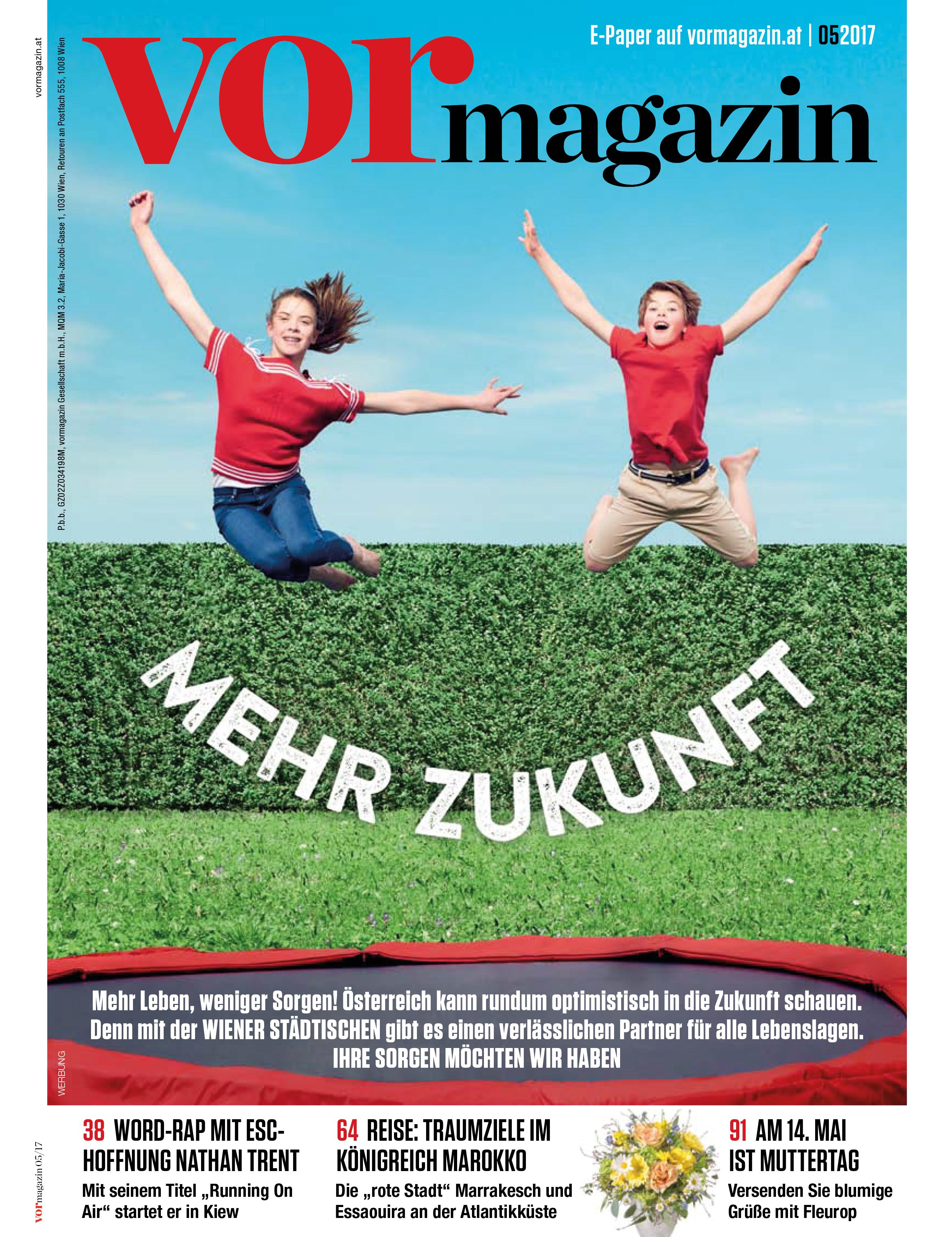 NUSSYY® im VORmagazin - MAI 2017 - COVER