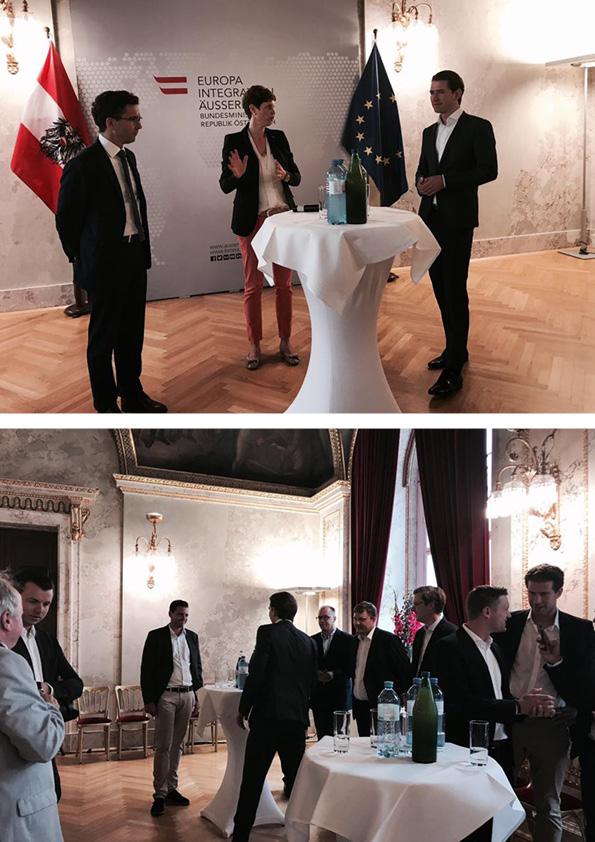 NUSSYY® und MMM zu Besuch bei Sebastian Kurz im Aussenministerium